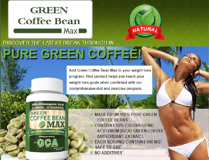 Green Coffee Bean Extract Weight Loss Capsules Shrink Extra